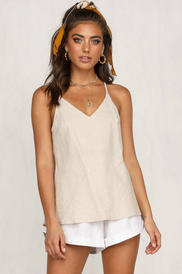 Deep End Top (Beige)