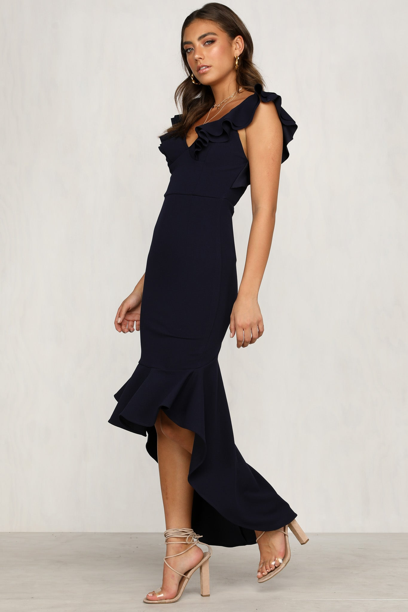 Set You Straight Dress (Navy)