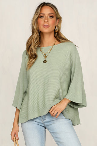 Mae Knit Top (Green)