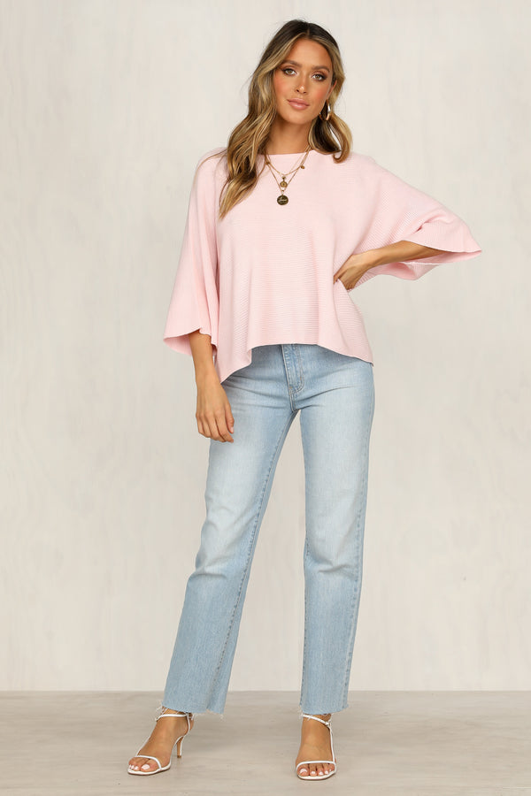 Mae Knit Top (Pink)