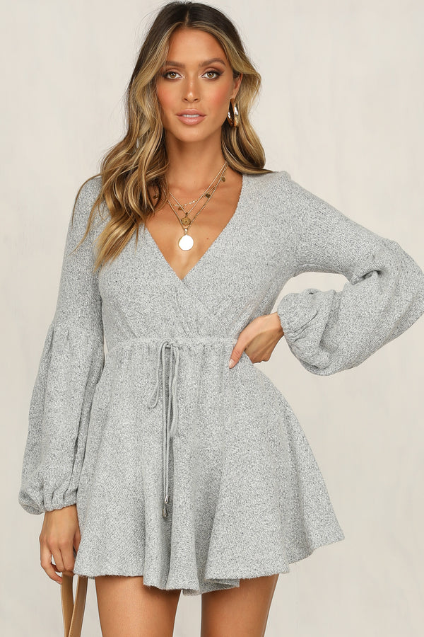 Ada Knit Dress (Grey)
