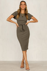 Take Me Out Dress (Khaki)