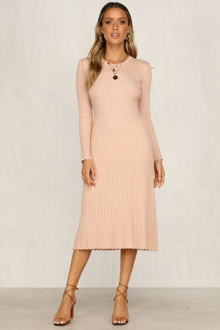 Honey Knit Dress (Blush)