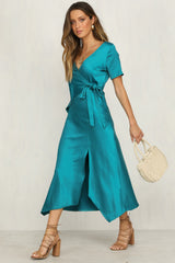 Billie Dress (Teal)