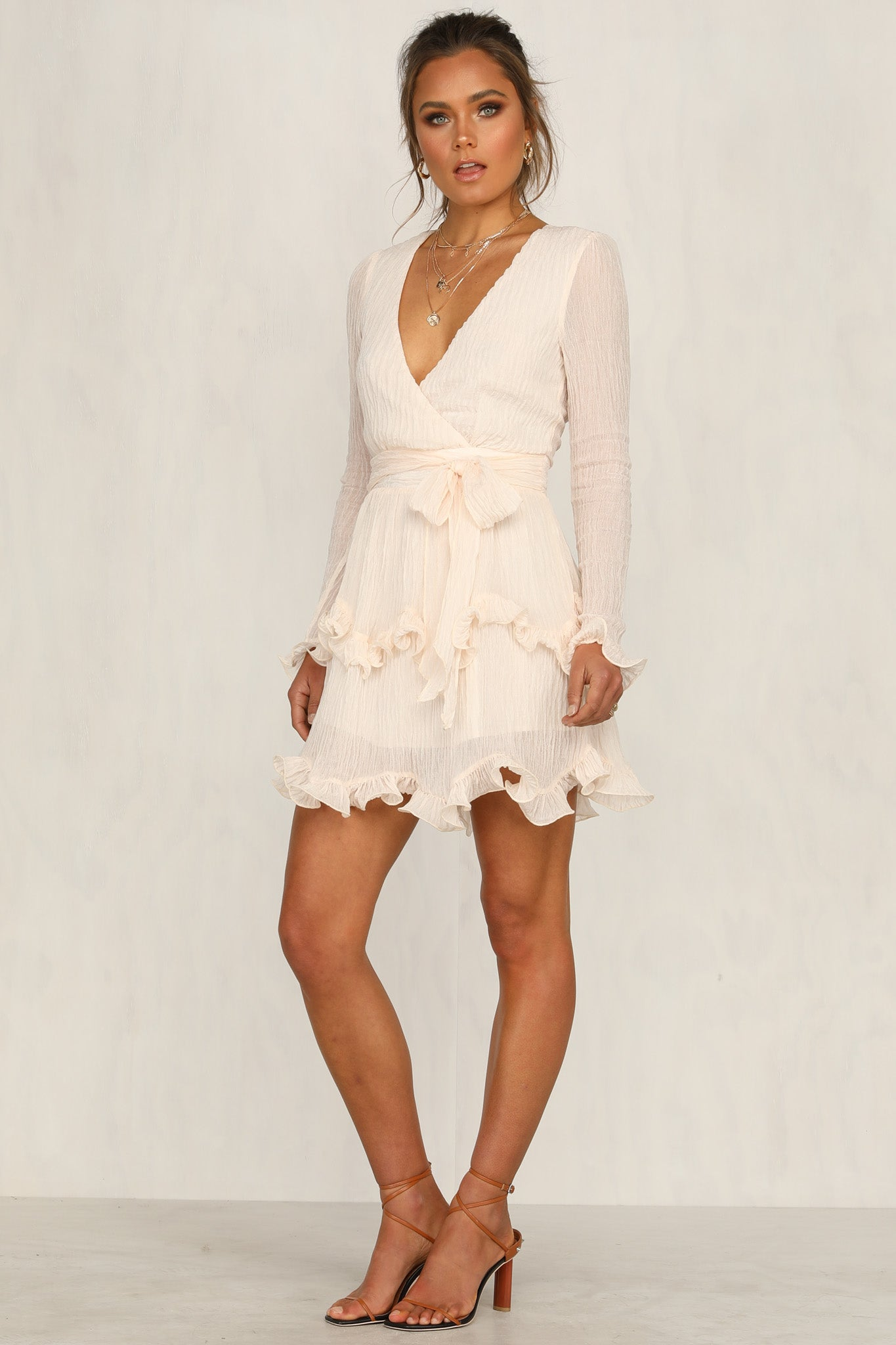 Emmeline Dress (Beige)