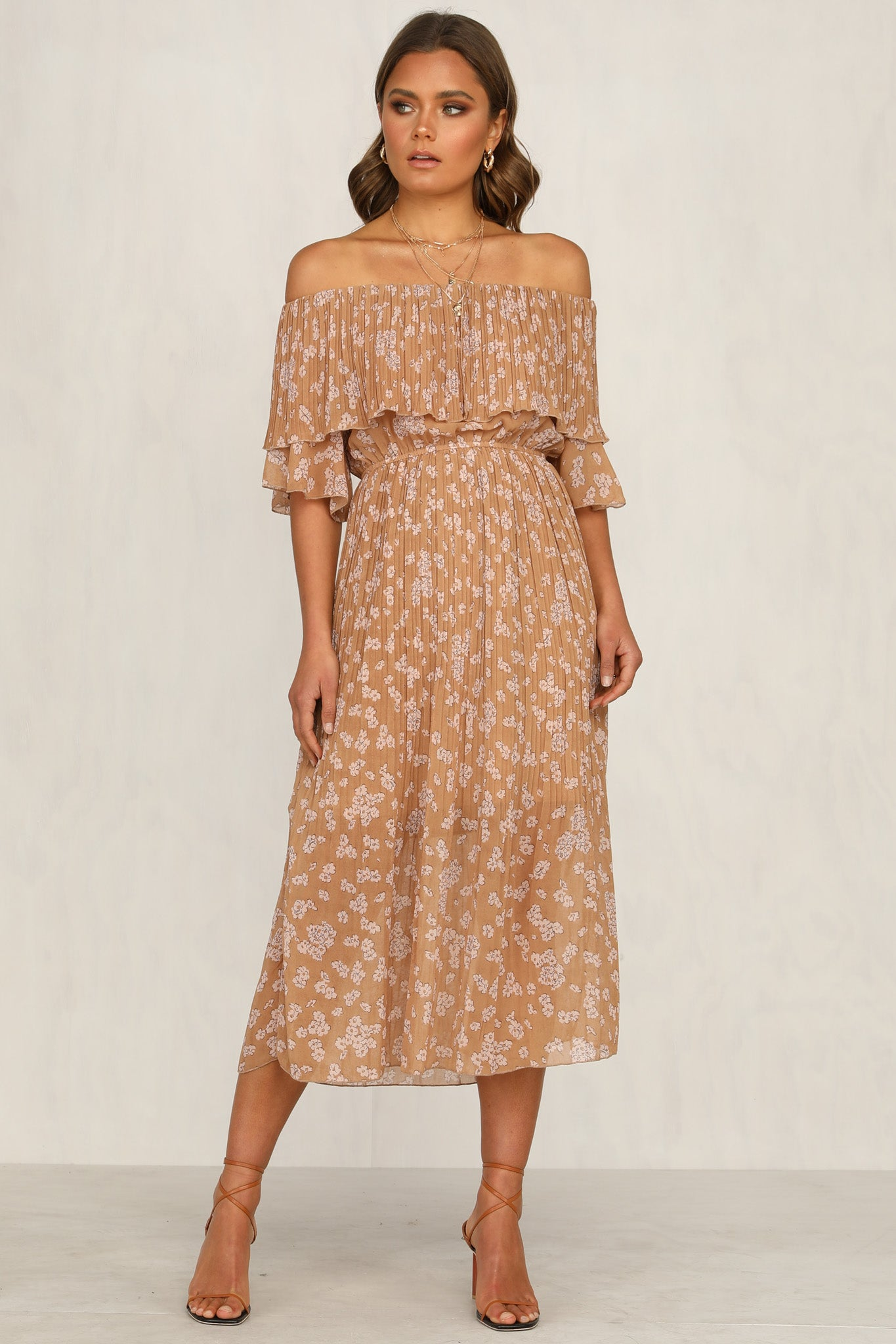 Aurelia Dress (Tan)
