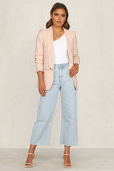 Company You Keep Blazer (Blush)