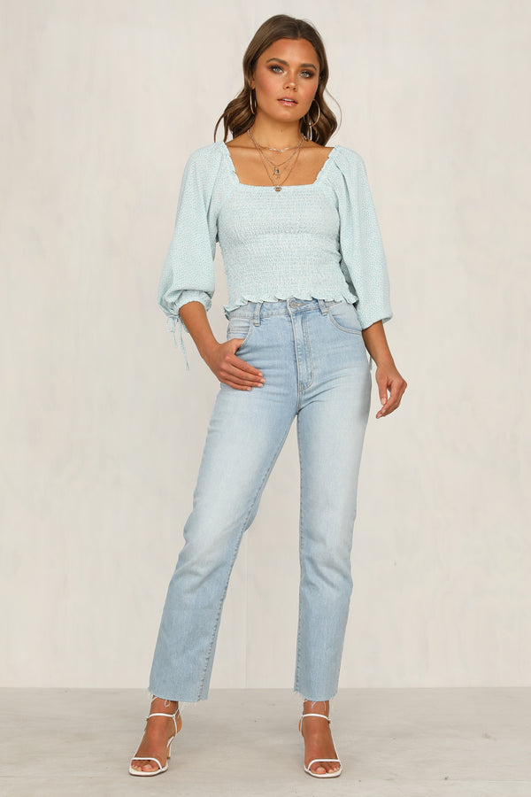 Addison Top (Blue)