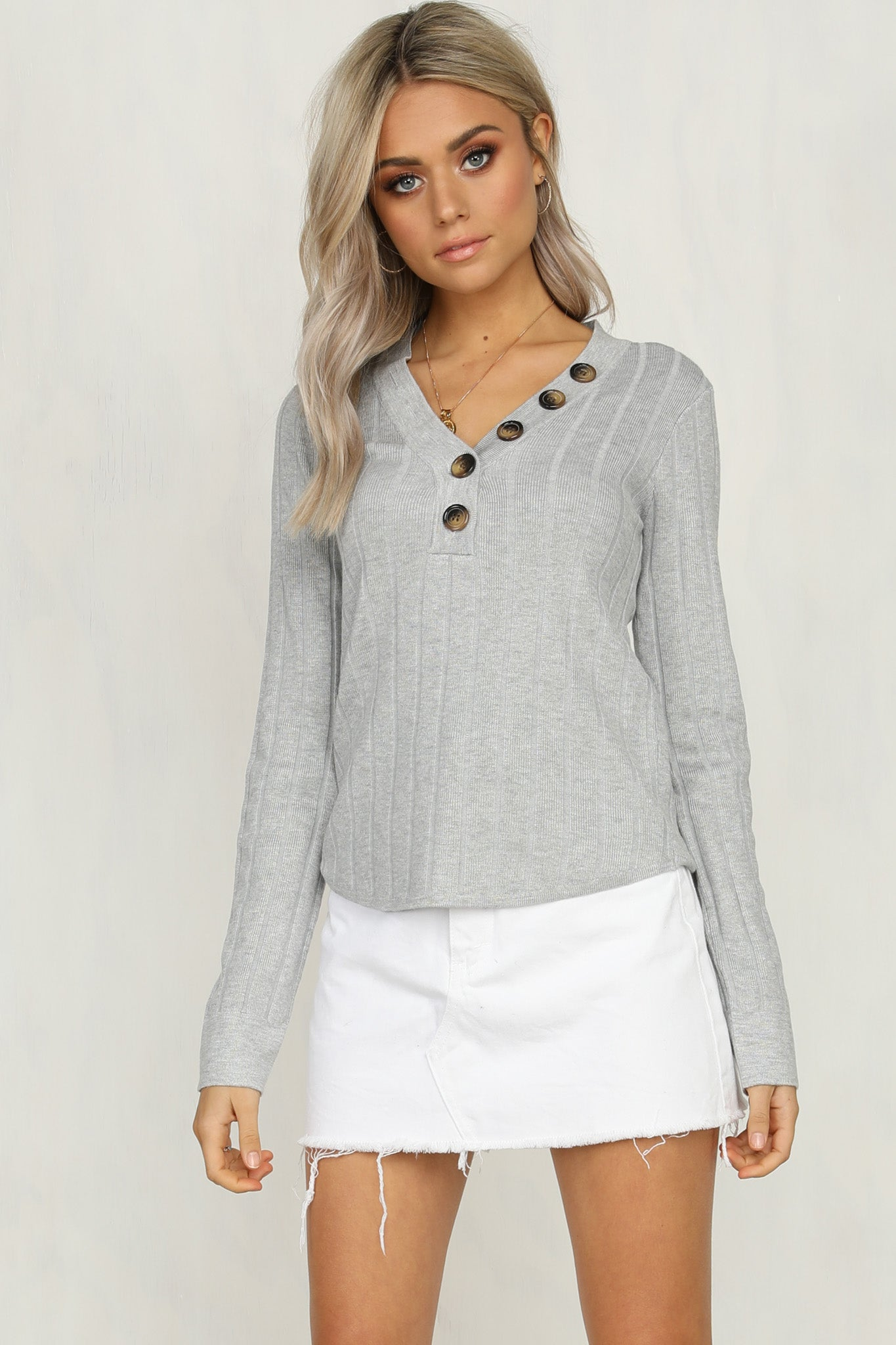 Look In Your Eye Knit (Grey)
