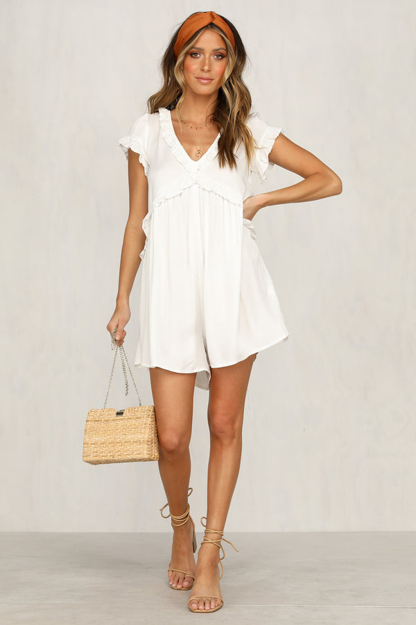 All I Ask Playsuit (White)