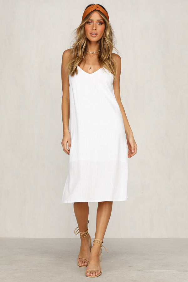 Tuesday Slip Dress (White)