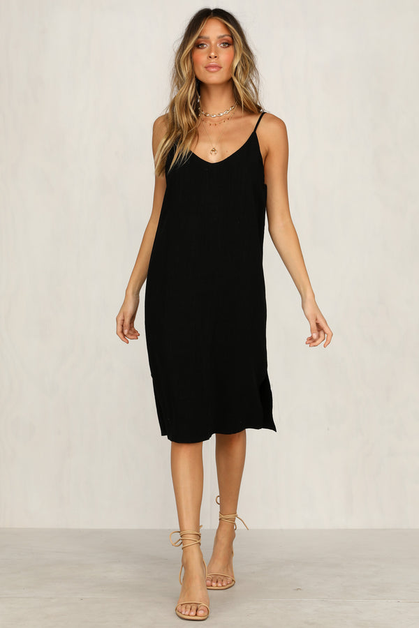 Tuesday Slip Dress (Black)
