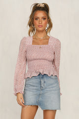 Cross My Heart Top (Pink)