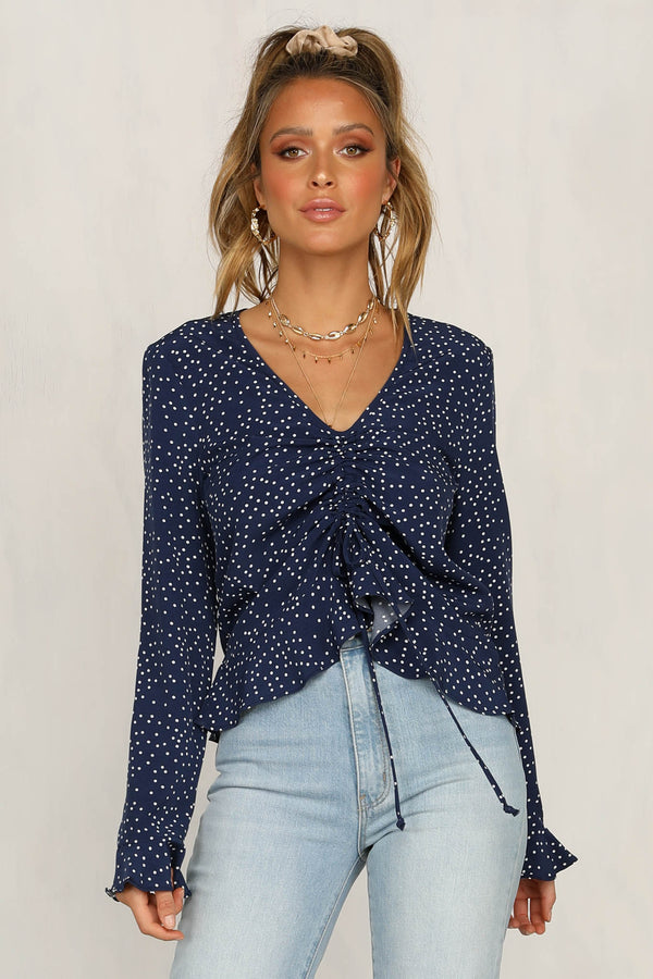 Used To Love You Top (Navy)