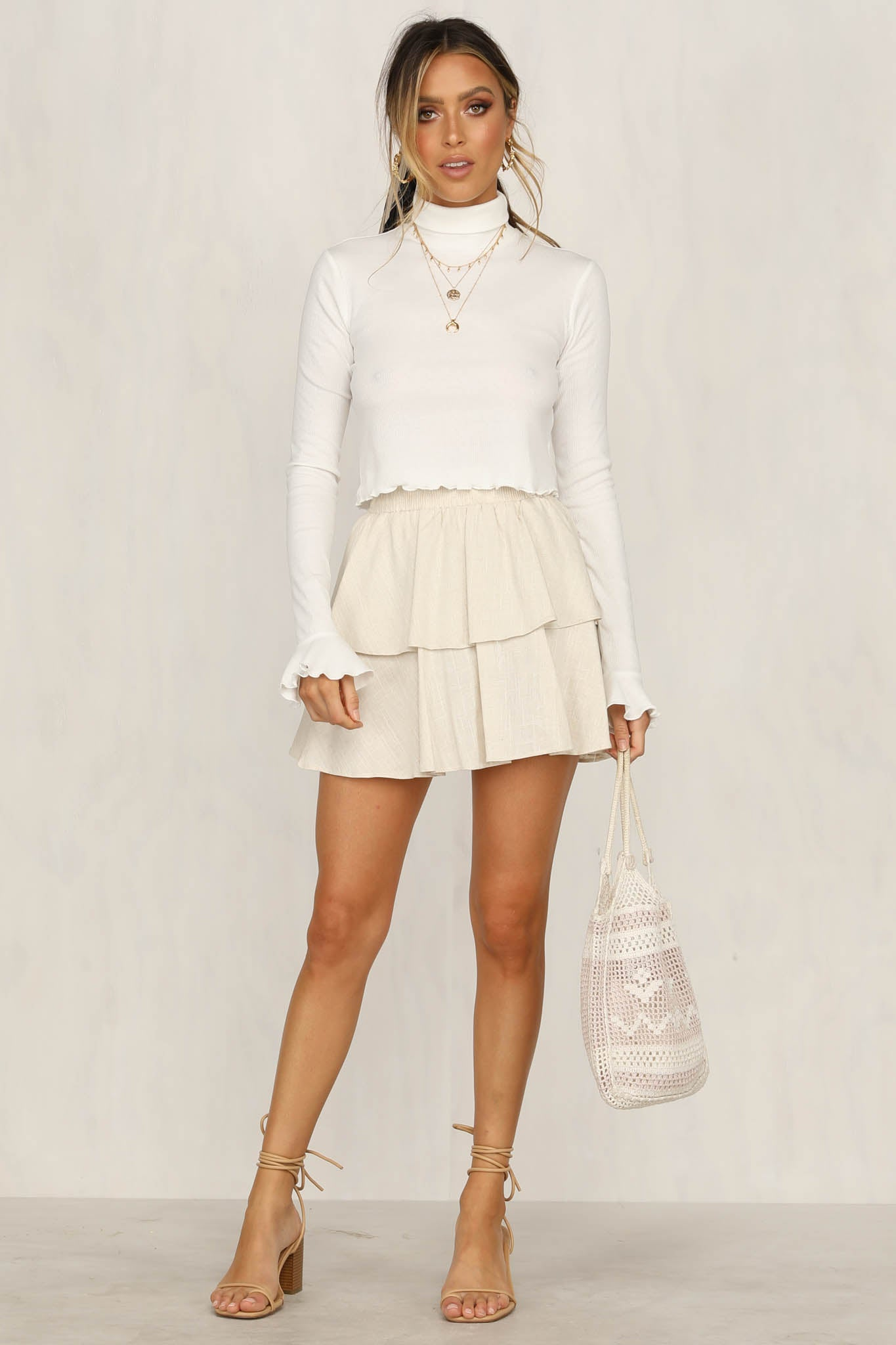 Hannah Frill Top (White)