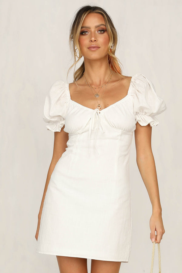 Confide In Me Dress (White)