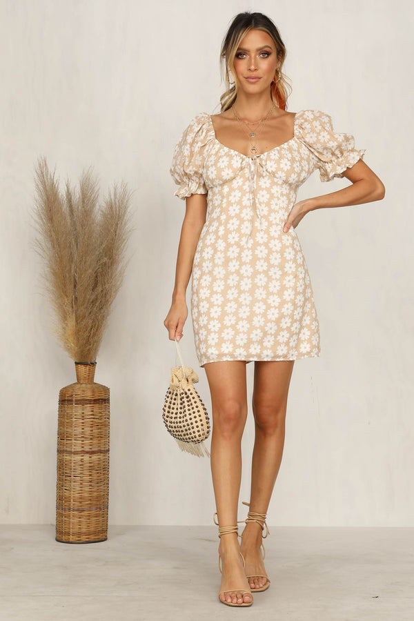 Confide In Me Dress (Beige)