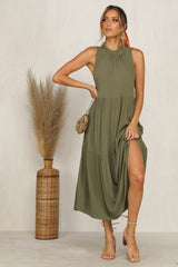 Empress Tiered Dress (Khaki)