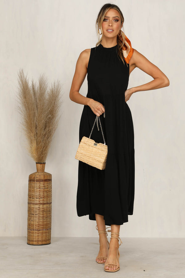 Empress Tiered Dress (Black)