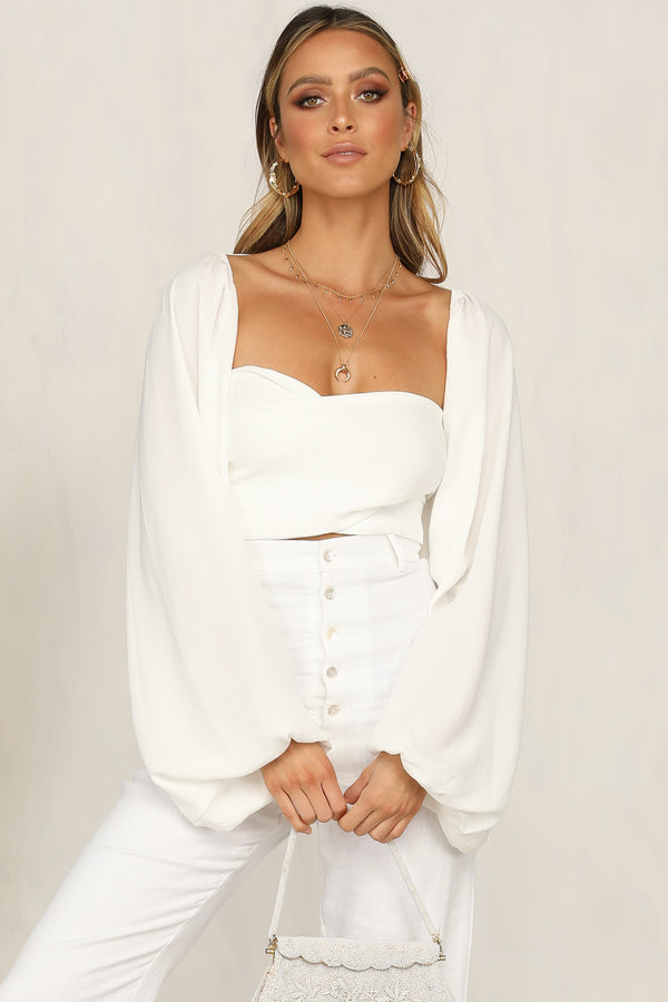 Sleep Walking Top (White)