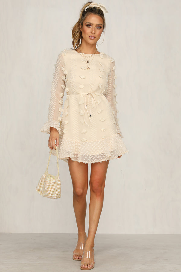 Lock It Dress (Beige)