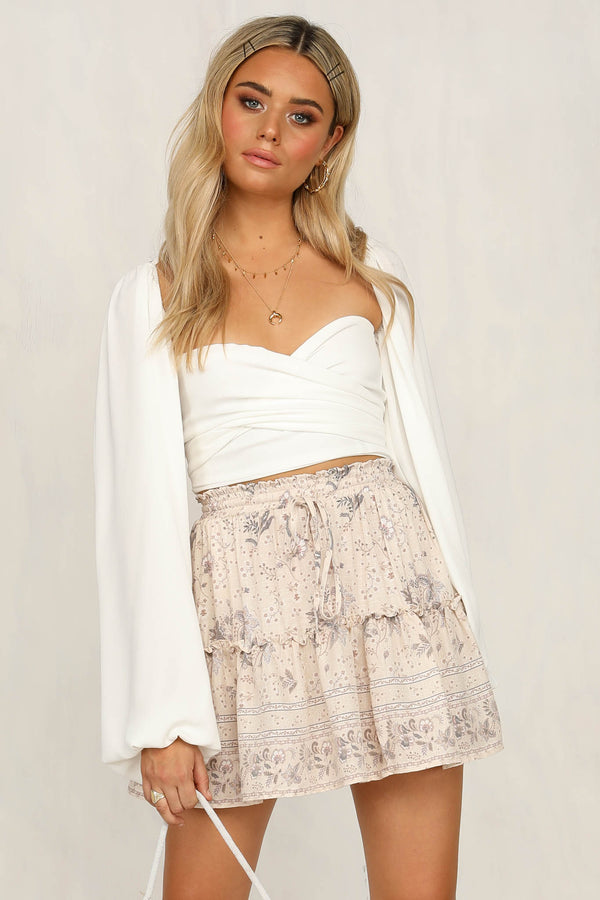 Far And Wide Skirt (Beige)