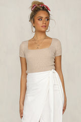 Nothing To Hide Top (Beige)