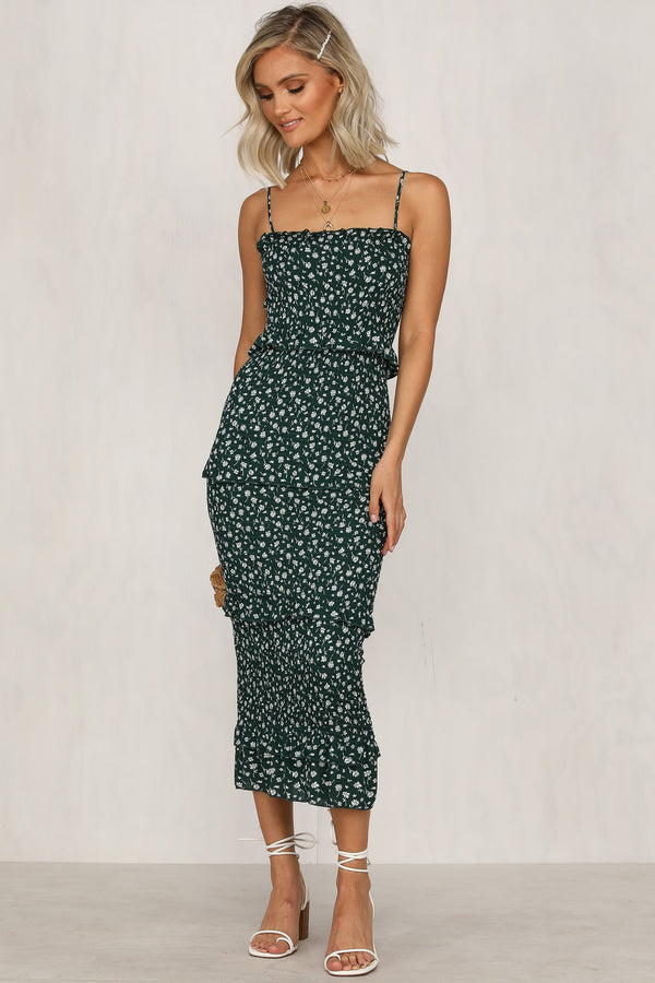 Heat Of The Moment Dress (Emerald)