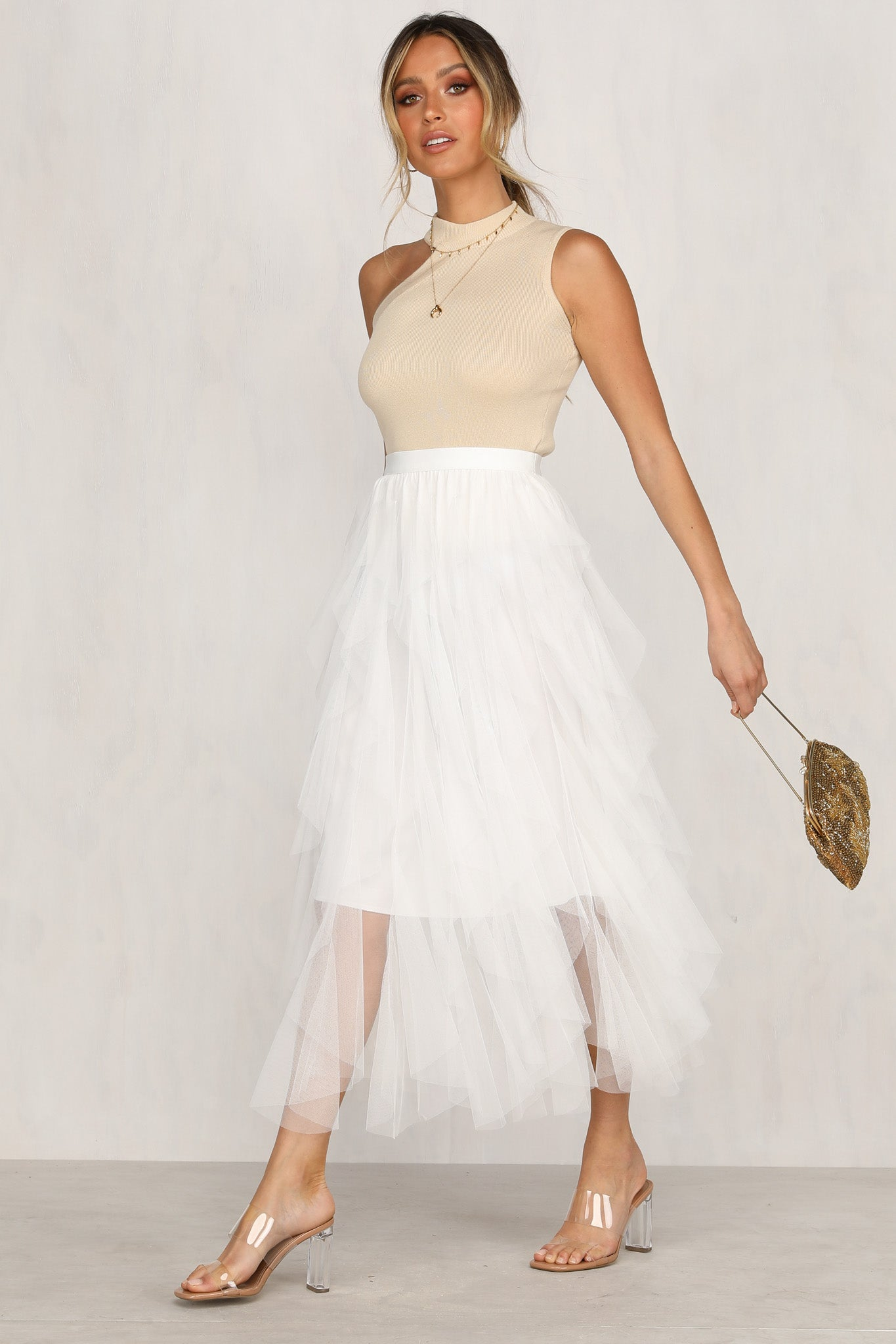 Lose Yourself Skirt (White)