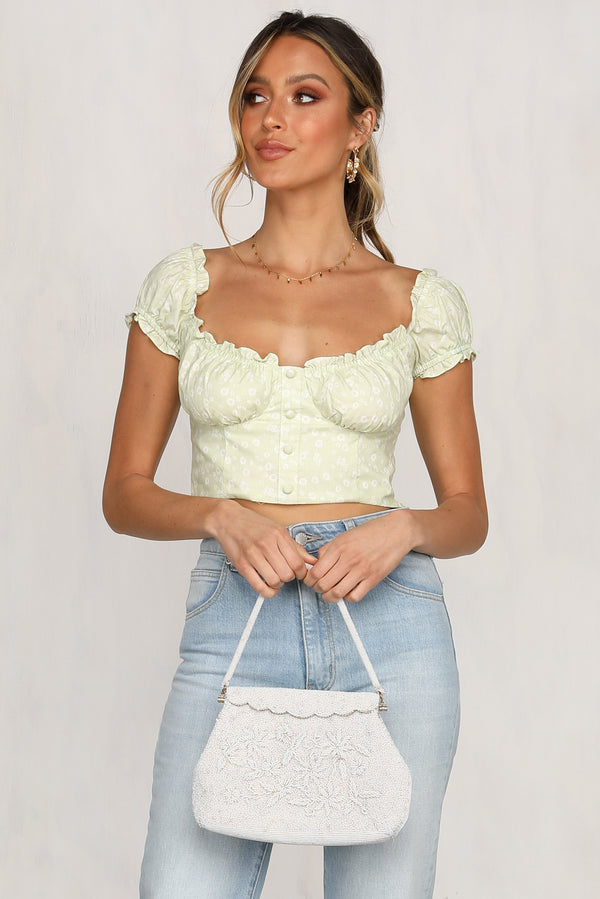 Bloom By Day Top (Lime)