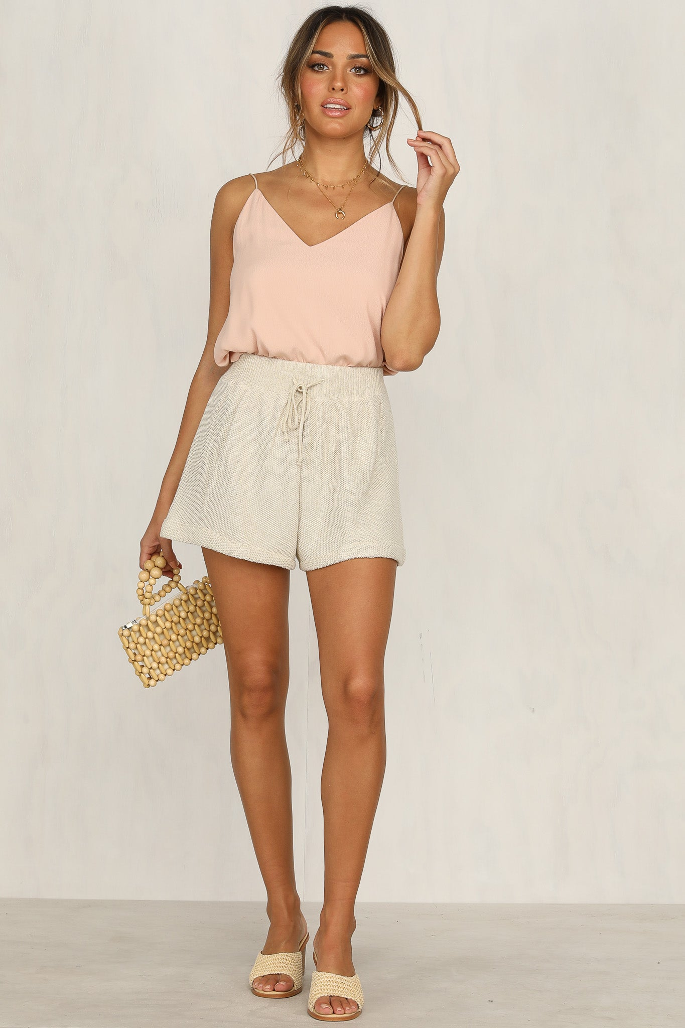 Cali Knit Shorts (Gold)