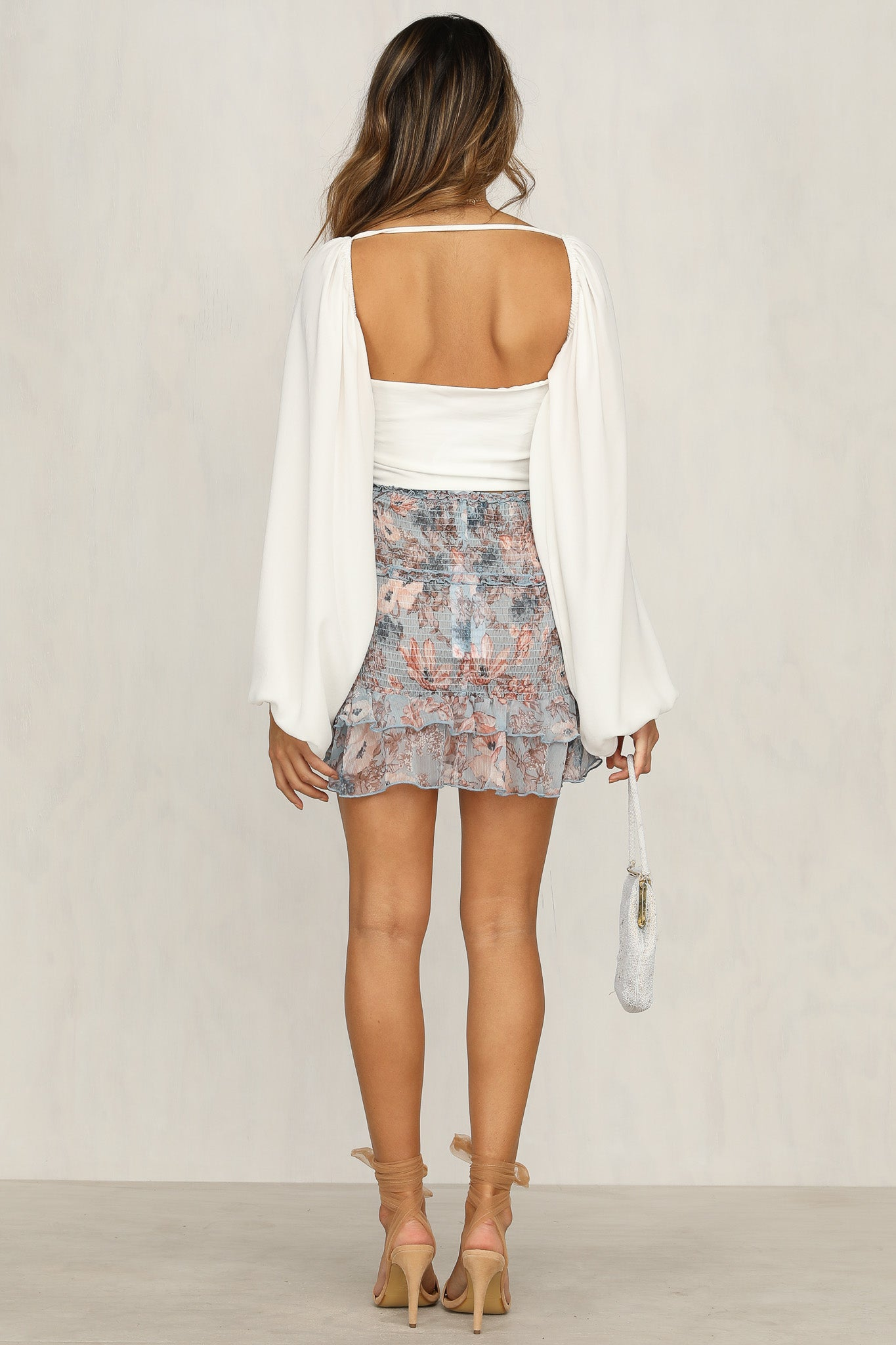 Dreamz Skirt (Blue Floral)
