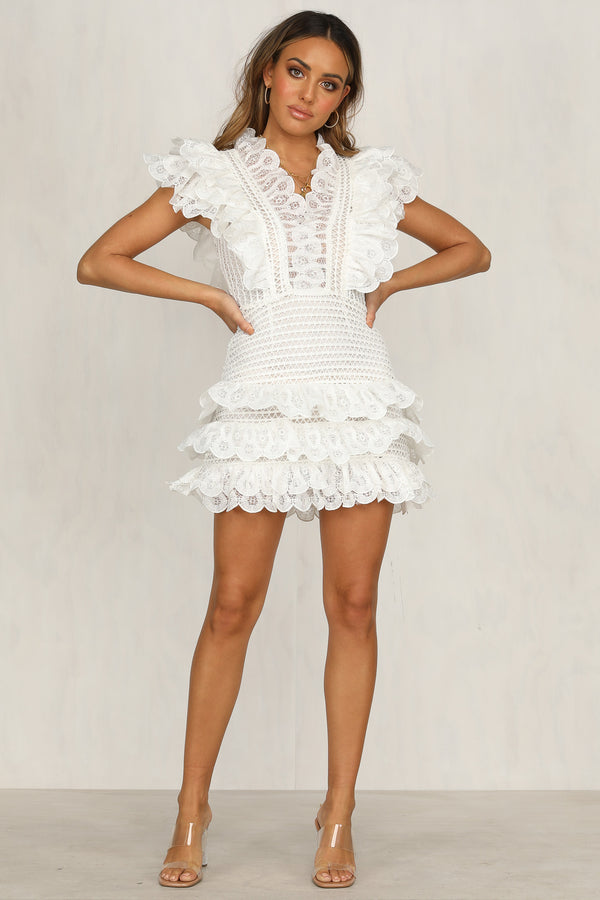 Sweet Melody Dress (White)