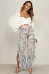 Dolly Pants (Blue Floral)
