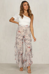 Dolly Pants (Cream Floral)