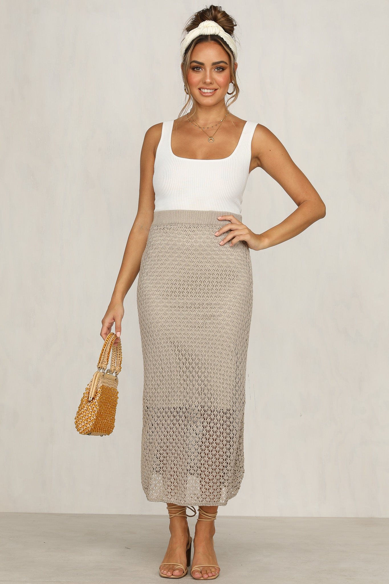 Safe Hiding Skirt (Beige)