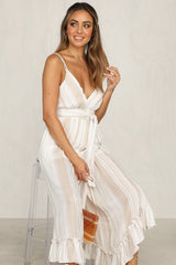 Chase That Feeling Jumpsuit (Beige)