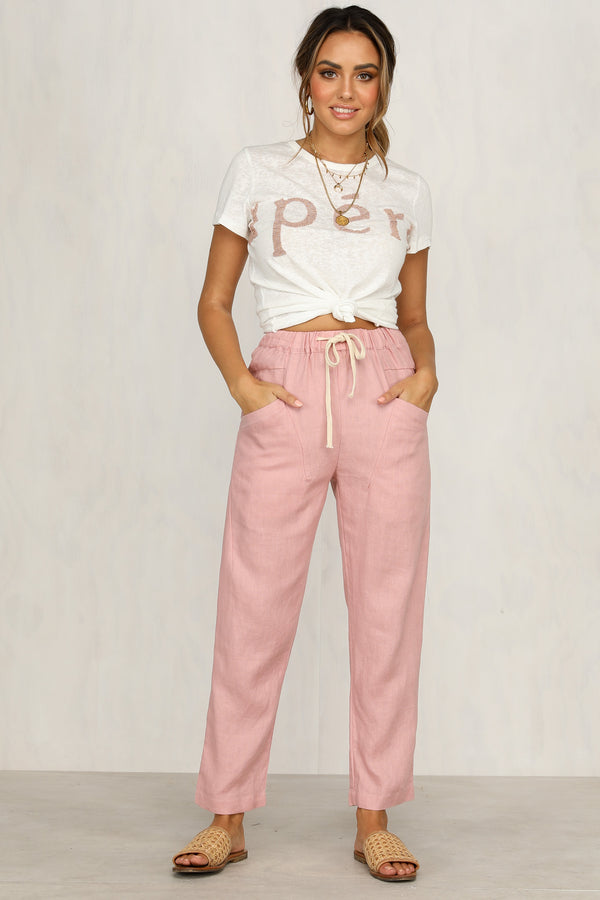 Tread Carefully Pants (Pink)