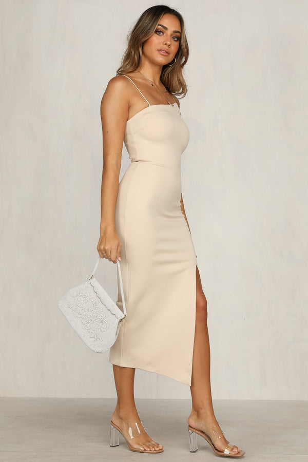 Bold Move Dress (Beige)