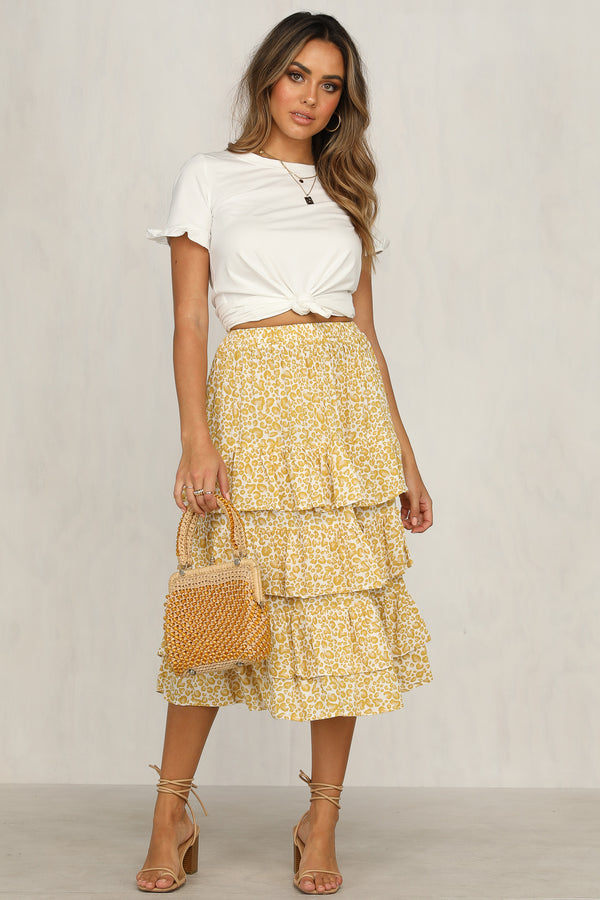 Jordan Skirt  (Yellow Leopard)