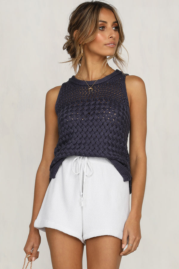 When You're Gone Knit (Navy)
