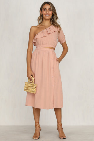 On My Mind Skirt (Blush)