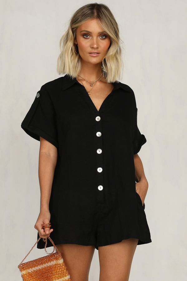Second Life Playsuit (Black)