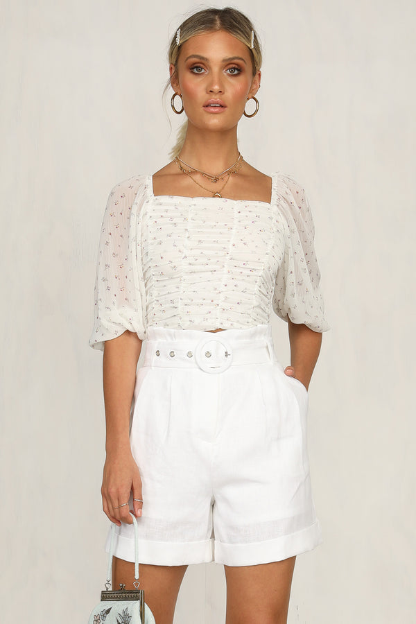 Millicent Top (White Floral)