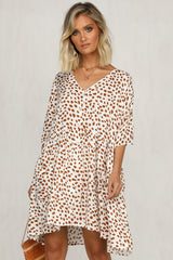 True Colours Dress (Rust Print)