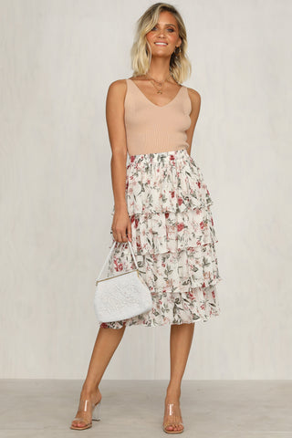 Days Go By Skirt (Floral)