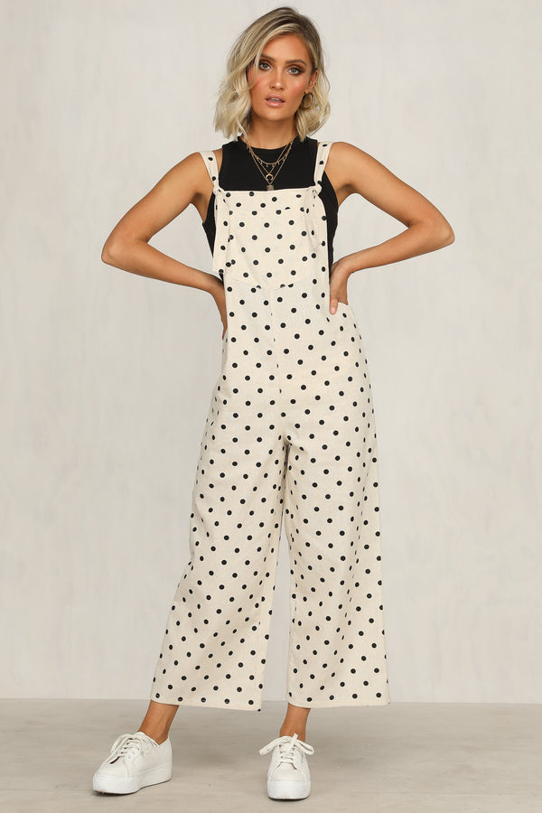 Leighton Jumpsuit (Polka Dot)