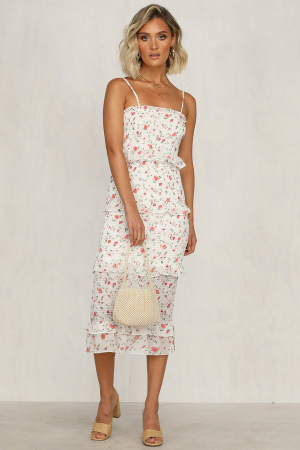 Endless Summer Dress (White Floral)
