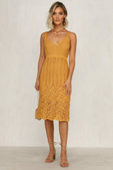 Close To The Sun Dress (Mustard)