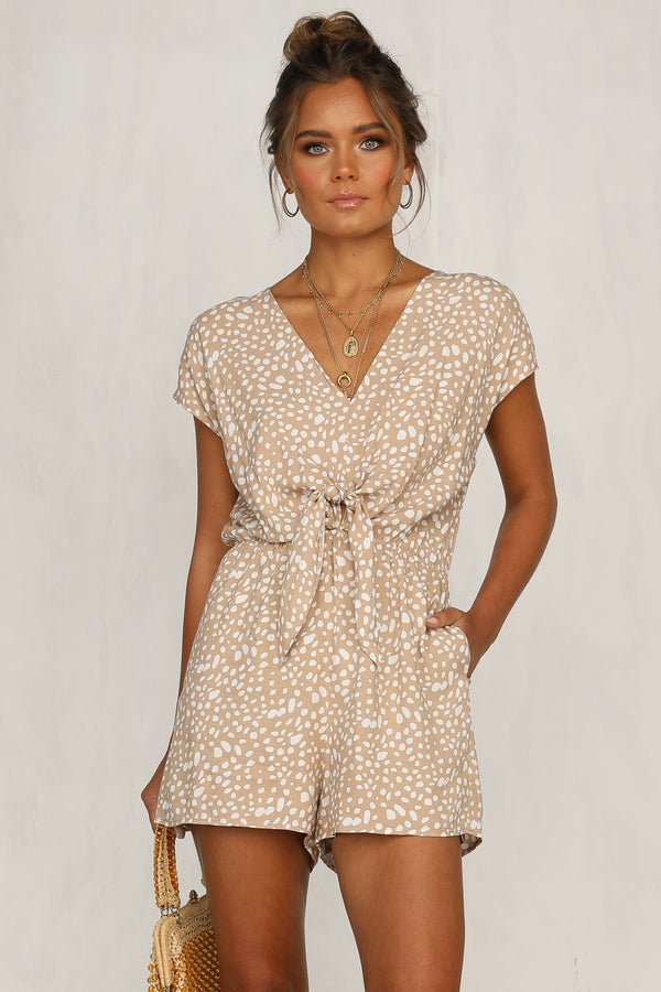 Free Me Up Playsuit (Beige)